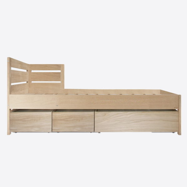 Nonjetable lit chene 90x200 LIFETIME avec 3 tables basses