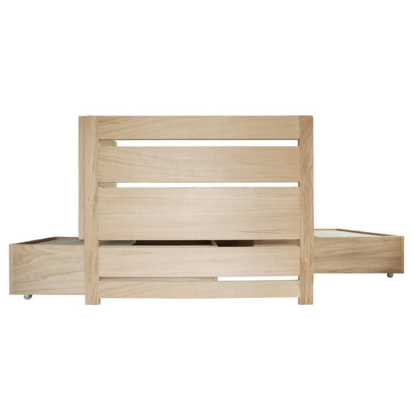 Nonjetable lit chene 90x200 LIFETIME avec tables basses tirées